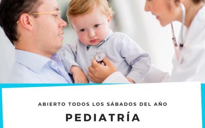 Pediatría todos los SÁBADOS del AÑO de 10:00 a 14:00h