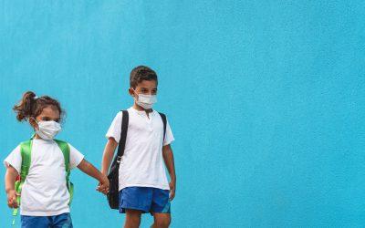 Dermatitis atópica y mascarillas en los niños